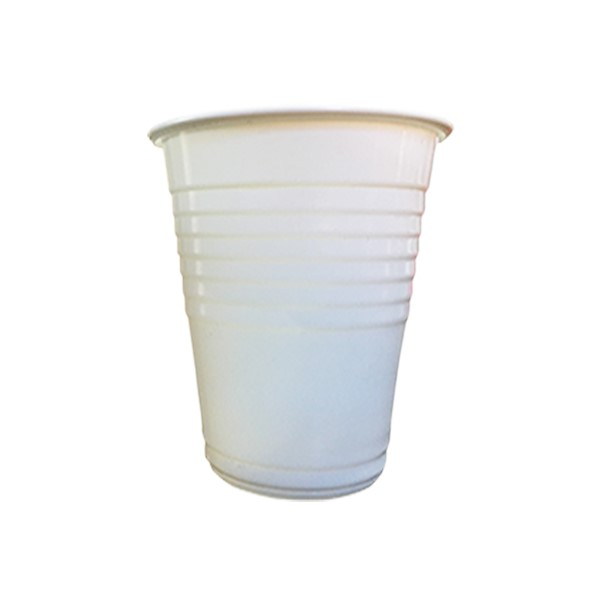 6oz WHITE PLASTIC CUPS (185ML)