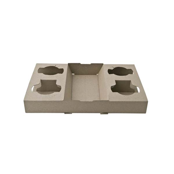 4 Cup 2Drink Tray
