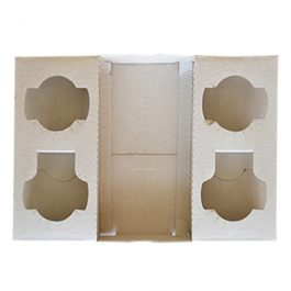 4 (2+2) CUP DRINK CARRY TRAY 100pcs