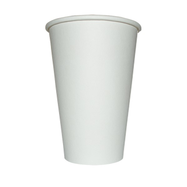 16oz SINGLE WALL COFFEE CUP WHITE