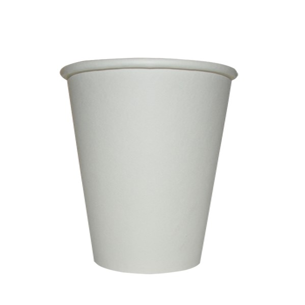 8oz SINGLE WALL COFFEE CUP WHITE