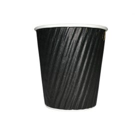8oz RIPPLE WRAP COFFEE CUP BLACK