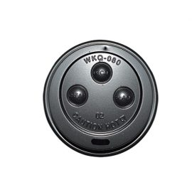 6/8/10oz BLACK FLAT LID 80mm