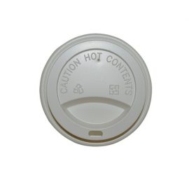 12/16oz WHITE FLAT LID 90mm