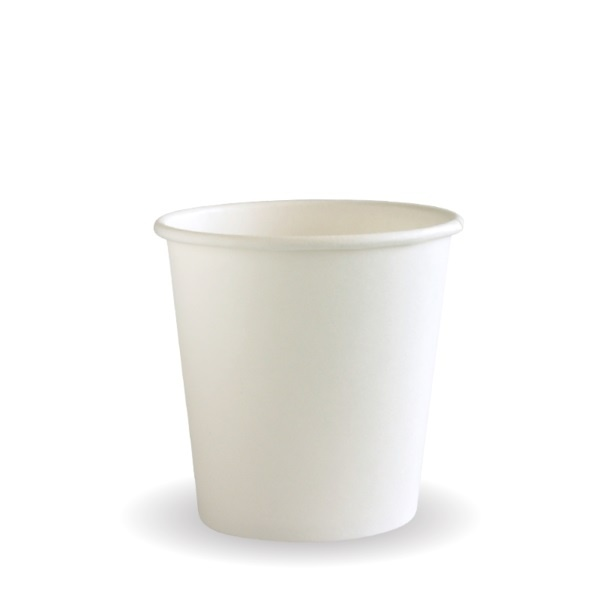 4oz SINGLE WALL COFFEE CUP WHITE