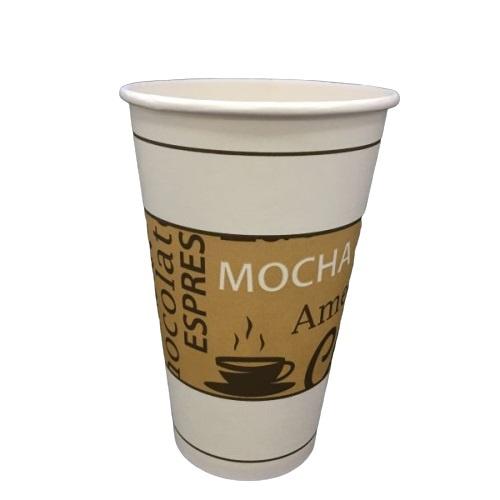 16oz  SINGLE WALL PRINTED COFFEE CUP