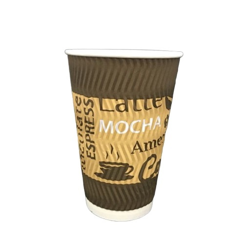 16oz RIPPLE WALL PRINTED COFFEE CUPS