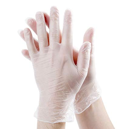 CLEAR VINYL GLOVES POWDER FREE (M)